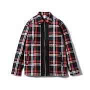 PLAID ZIP SHIRT JKT
