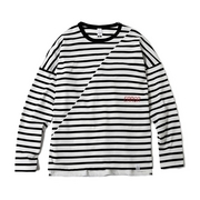 BIAS CUT STRIPE CREW